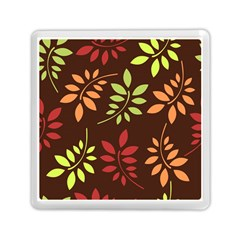 Leaves Wallpaper Pattern Seamless Autumn Colors Leaf Background Memory Card Reader (square)
