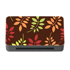 Leaves Wallpaper Pattern Seamless Autumn Colors Leaf Background Memory Card Reader with CF