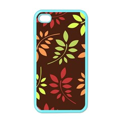 Leaves Wallpaper Pattern Seamless Autumn Colors Leaf Background Apple Iphone 4 Case (color)
