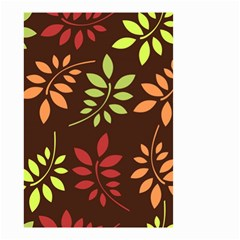 Leaves Wallpaper Pattern Seamless Autumn Colors Leaf Background Small Garden Flag (Two Sides)