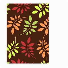 Leaves Wallpaper Pattern Seamless Autumn Colors Leaf Background Large Garden Flag (two Sides)