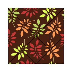 Leaves Wallpaper Pattern Seamless Autumn Colors Leaf Background Acrylic Tangram Puzzle (6  x 6 )