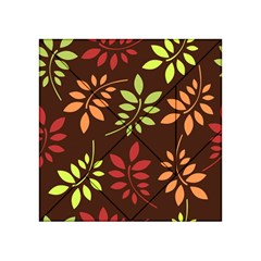 Leaves Wallpaper Pattern Seamless Autumn Colors Leaf Background Acrylic Tangram Puzzle (4  X 4 )