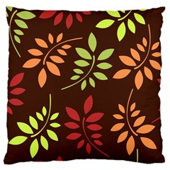 Leaves Wallpaper Pattern Seamless Autumn Colors Leaf Background Large Cushion Case (One Side)