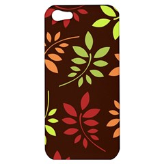 Leaves Wallpaper Pattern Seamless Autumn Colors Leaf Background Apple iPhone 5 Hardshell Case
