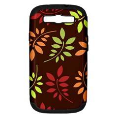 Leaves Wallpaper Pattern Seamless Autumn Colors Leaf Background Samsung Galaxy S Iii Hardshell Case (pc+silicone)