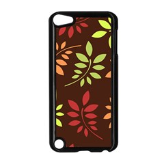 Leaves Wallpaper Pattern Seamless Autumn Colors Leaf Background Apple Ipod Touch 5 Case (black)