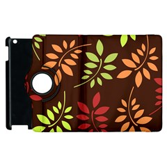 Leaves Wallpaper Pattern Seamless Autumn Colors Leaf Background Apple iPad 3/4 Flip 360 Case