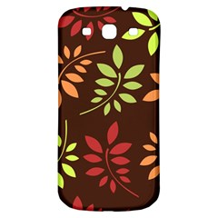 Leaves Wallpaper Pattern Seamless Autumn Colors Leaf Background Samsung Galaxy S3 S III Classic Hardshell Back Case