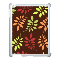 Leaves Wallpaper Pattern Seamless Autumn Colors Leaf Background Apple Ipad 3/4 Case (white)