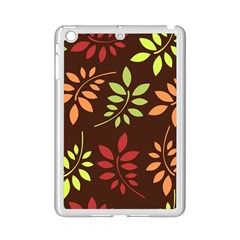 Leaves Wallpaper Pattern Seamless Autumn Colors Leaf Background iPad Mini 2 Enamel Coated Cases
