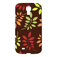 Leaves Wallpaper Pattern Seamless Autumn Colors Leaf Background Samsung Galaxy S4 I9500/I9505 Hardshell Case