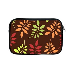 Leaves Wallpaper Pattern Seamless Autumn Colors Leaf Background Apple iPad Mini Zipper Cases