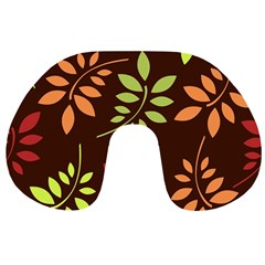 Leaves Wallpaper Pattern Seamless Autumn Colors Leaf Background Travel Neck Pillows