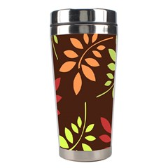 Leaves Wallpaper Pattern Seamless Autumn Colors Leaf Background Stainless Steel Travel Tumblers