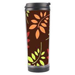 Leaves Wallpaper Pattern Seamless Autumn Colors Leaf Background Travel Tumbler