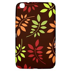 Leaves Wallpaper Pattern Seamless Autumn Colors Leaf Background Samsung Galaxy Tab 3 (8 ) T3100 Hardshell Case