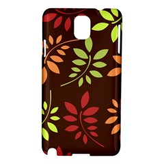 Leaves Wallpaper Pattern Seamless Autumn Colors Leaf Background Samsung Galaxy Note 3 N9005 Hardshell Case