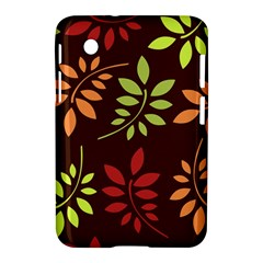 Leaves Wallpaper Pattern Seamless Autumn Colors Leaf Background Samsung Galaxy Tab 2 (7 ) P3100 Hardshell Case