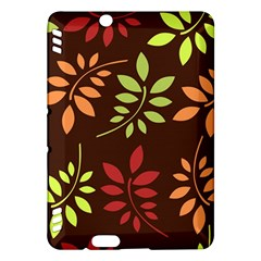 Leaves Wallpaper Pattern Seamless Autumn Colors Leaf Background Kindle Fire HDX Hardshell Case