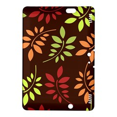 Leaves Wallpaper Pattern Seamless Autumn Colors Leaf Background Kindle Fire HDX 8.9  Hardshell Case