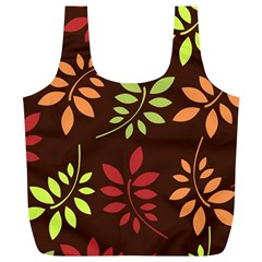 Leaves Wallpaper Pattern Seamless Autumn Colors Leaf Background Full Print Recycle Bags (l)