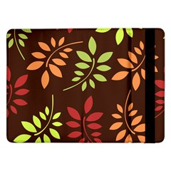 Leaves Wallpaper Pattern Seamless Autumn Colors Leaf Background Samsung Galaxy Tab Pro 12.2  Flip Case
