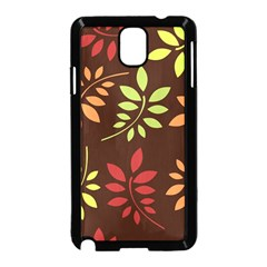 Leaves Wallpaper Pattern Seamless Autumn Colors Leaf Background Samsung Galaxy Note 3 Neo Hardshell Case (Black)