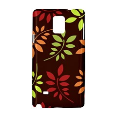 Leaves Wallpaper Pattern Seamless Autumn Colors Leaf Background Samsung Galaxy Note 4 Hardshell Case