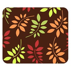Leaves Wallpaper Pattern Seamless Autumn Colors Leaf Background Double Sided Flano Blanket (Small)