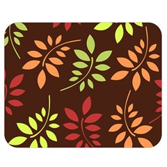 Leaves Wallpaper Pattern Seamless Autumn Colors Leaf Background Double Sided Flano Blanket (Medium)