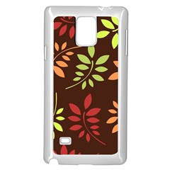Leaves Wallpaper Pattern Seamless Autumn Colors Leaf Background Samsung Galaxy Note 4 Case (white)