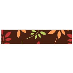 Leaves Wallpaper Pattern Seamless Autumn Colors Leaf Background Flano Scarf (Small)