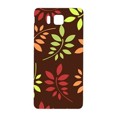 Leaves Wallpaper Pattern Seamless Autumn Colors Leaf Background Samsung Galaxy Alpha Hardshell Back Case