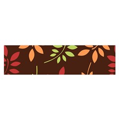 Leaves Wallpaper Pattern Seamless Autumn Colors Leaf Background Satin Scarf (Oblong)