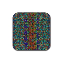 Sea Of Mermaids Rubber Coaster (square)