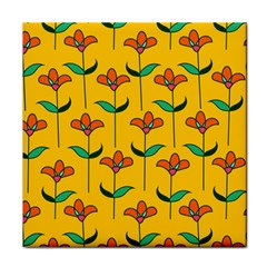 Small Flowers Pattern Floral Seamless Vector Tile Coasters