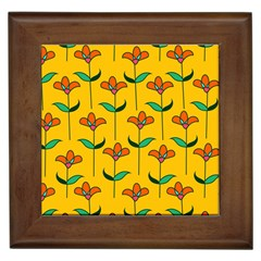 Small Flowers Pattern Floral Seamless Vector Framed Tiles
