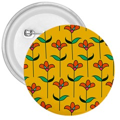 Small Flowers Pattern Floral Seamless Vector 3  Buttons
