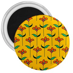 Small Flowers Pattern Floral Seamless Vector 3  Magnets