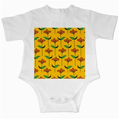 Small Flowers Pattern Floral Seamless Vector Infant Creepers
