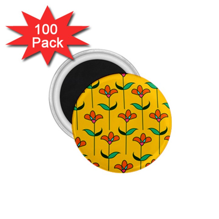 Small Flowers Pattern Floral Seamless Vector 1.75  Magnets (100 pack)