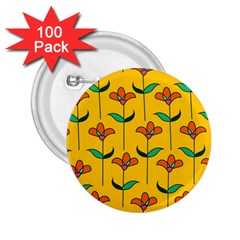 Small Flowers Pattern Floral Seamless Vector 2 25  Buttons (100 Pack)