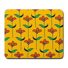 Small Flowers Pattern Floral Seamless Vector Large Mousepads