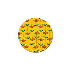 Small Flowers Pattern Floral Seamless Vector Golf Ball Marker (4 pack)