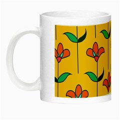Small Flowers Pattern Floral Seamless Vector Night Luminous Mugs