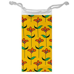 Small Flowers Pattern Floral Seamless Vector Jewelry Bag