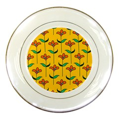 Small Flowers Pattern Floral Seamless Vector Porcelain Plates