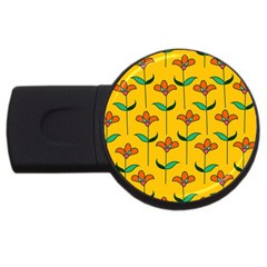 Small Flowers Pattern Floral Seamless Vector Usb Flash Drive Round (4 Gb)