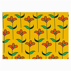 Small Flowers Pattern Floral Seamless Vector Large Glasses Cloth (2 Side)